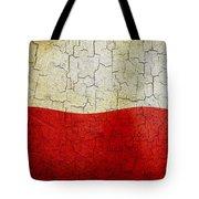 Grunge Poland Flag Tote Bag