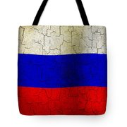 Grunge Russia Flag Tote Bag