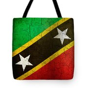 Grunge Saint Kitts And Nevis Flag Tote Bag