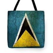 Grunge Saint Lucia Flag Tote Bag