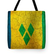 Grunge Saint Vincent And The Grenadines Flag Tote Bag