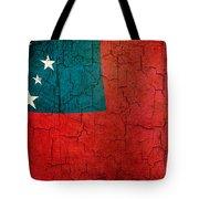 Grunge Samoa Flag Tote Bag