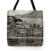 Grunge Seascape Tote Bag