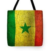 Grunge Senegal Flag Tote Bag