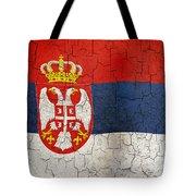 Grunge Serbia Flag Tote Bag
