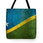Grunge Solomon Islands Flag Tote Bag