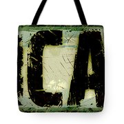Grunge Style Chicago Sign Tote Bag