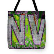 Grunge Style Denver Sign Tote Bag
