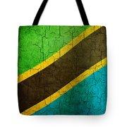 Grunge Tanzania Flag Tote Bag