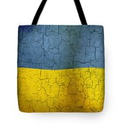 Grunge Ukraine Flag Tote Bag