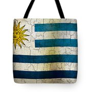 Grunge Uruguay Flag Tote Bag