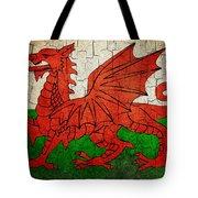 Grunge Wales Flag Tote Bag