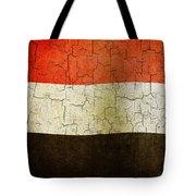 Grunge Yemen Flag Tote Bag