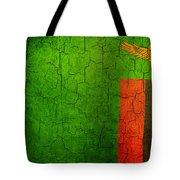 Grunge Zambia Flag Tote Bag