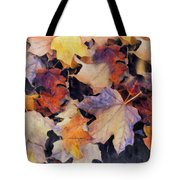 Grungy Autumn Leaves Tote Bag