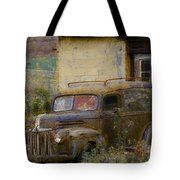 Grungy Vintage Ford Panel Truck Tote Bag