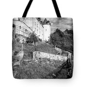 Gruyeres Castle Bw Tote Bag