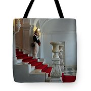 Guard At Catherine Palace In Russia Tote Bag