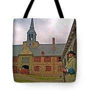Guard At King's Bastion In Louisbourg Living History Museum-1744 Tote Bag
