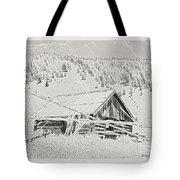 Guarding Grandpa's Cabin Tote Bag