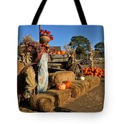 Guarding The Pumpkin Patch Tote Bag
