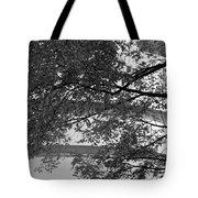 Guggenheim And Trees In Black And White Tote Bag