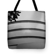Guggenheim In The Round In Black And White Tote Bag
