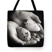 Guillemot Eggs Black And White Tote Bag