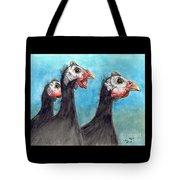 Guinea Hen Rooster Trio Farm Ranch Animal Art Tote Bag