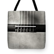 Guitar Abstract In Monochrome Tote Bag