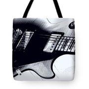 Guitar - Black And White Tote Bag