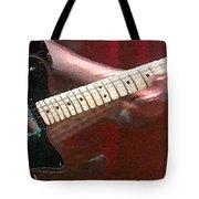 Guitar In Action Tote Bag