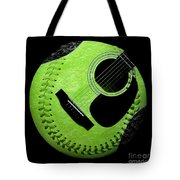 Guitar Keylime Baseball Square  Tote Bag