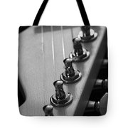 Black And White Guitar Tote Bag