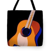 Guitar Of Colors Tote Bag