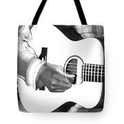 Guitar Player Tote Bag by Aidan Moran