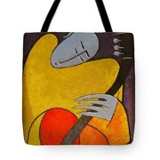 Guitar Player Tote Bag