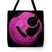 Guitar Raspberry Baseball Tote Bag