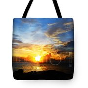 Guitar Sunset - Guitars By Sharon Cummings Tote Bag