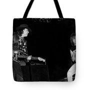 Guitarists Stevie Ray Vaughan W Jeff Beck Tote Bag