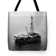 Gulf Of Mexico Oil Rig, 1950 Tote Bag