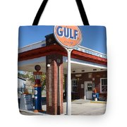 Gulf Station Sign Tote Bag
