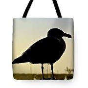 Gull At Sunset Tote Bag