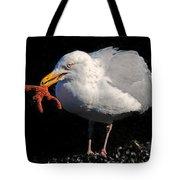 Gull With Starfish Tote Bag