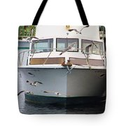 Gulls And Boat Tote Bag