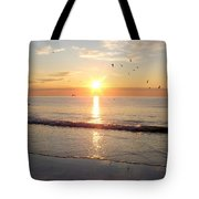 Gulls Dance In The Warmth Of The New Day Tote Bag