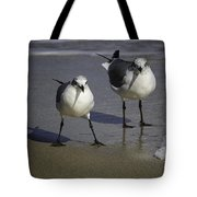Gulls On The Beach Tote Bag