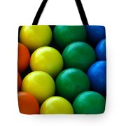 Gumballs Tote Bag by April Wietrecki Green