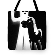 Gumby And Pokey B F F Black White Tote Bag