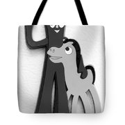 Gumby And Pokey B F F In B  W  Tote Bag